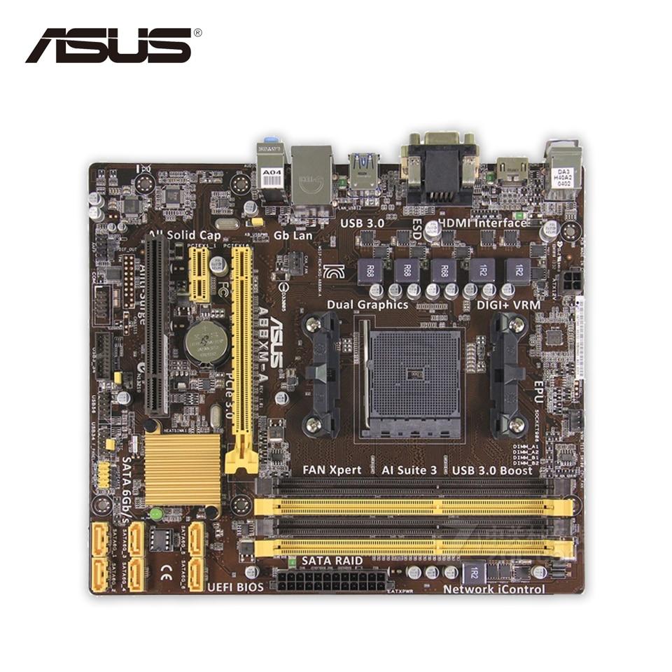 Asus A88XM-A Original Used Desktop Motherboard A88X Socket FM2 DDR3 64G SATA3 USB3.0 Micro ATX used original for biostar hi fi a85s2 fm2 motherboard for amd a85 usb3 0 sata3 motherboard