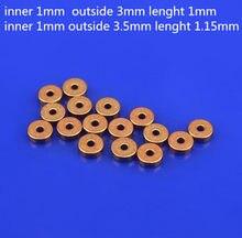 Мини медный латунный подшипник 10 шт./лот, самосмазывающаяся Втулка 3 мм миниатюрный самый маленький латунный подшипник