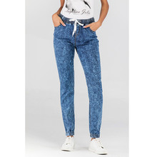 Summer hot new high waist snowflake jeans fashion casual womens trousers tight stretch pants loose