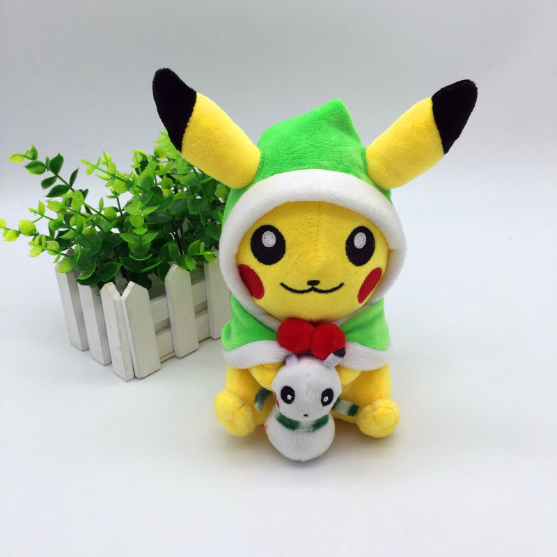 New Cosplay Pikachu Plush Toys for Children Cute Kawaii Snowman Christmas Gift Toys Pikachu Stuffed Animals Cartoon Baby/Kid Toy 1 pc color random new baby kid cartoon animals fruits dimensional puzzles toy jigsaw puzzles educational toy for children gift