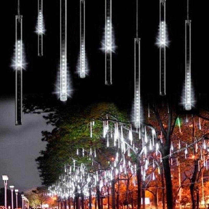 LED Christmas Xmas Lights 1set 30cm 50cm Snowfall Tube Meteor Shower Rain Tube LED String Light Christmas Lights Outdoor цена