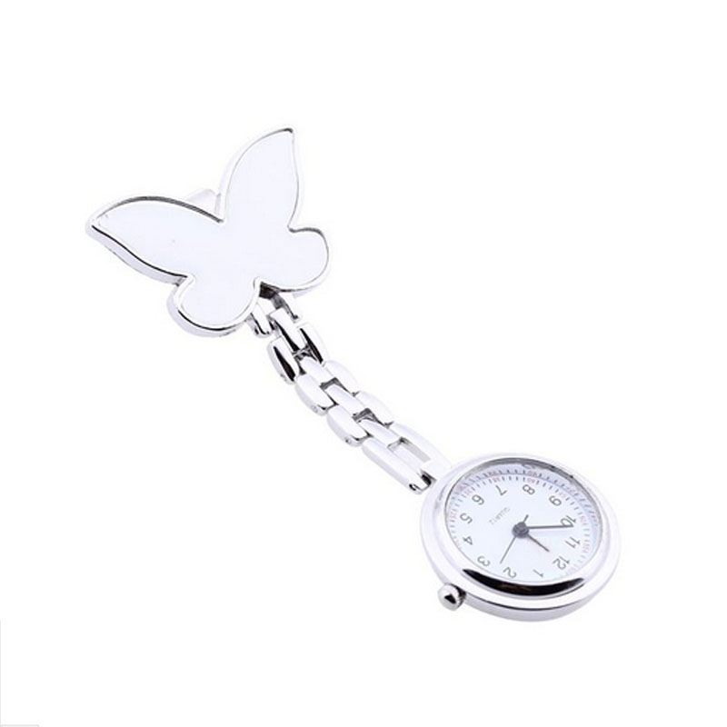 Superior Fashion Butterfly Nurse Clip-on Fob Brooch Pendant Hanging Pocket Watch Nov 2