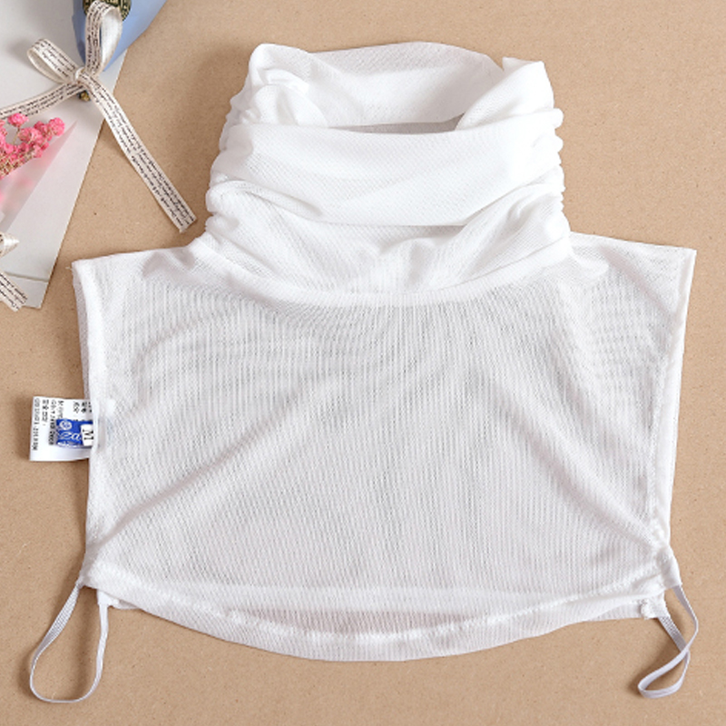 Latest lace font b classic b font false collar decorated collier lapel shirt mesh half saving