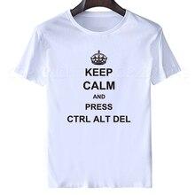 270b9324f1 New Summer Funny Tech Support Geek T Shirts Men Joke GIFT T-shirts Short  Sleeve