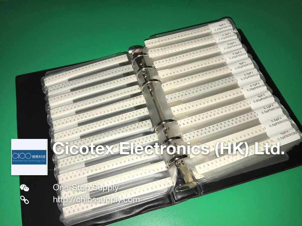 Image 2 - SMD 0603 Capacitor sample book 90 values * 50pcs=4500pcs Electronic Components Package Samples kit Capacitor kit SMD pack-in Integrated Circuits from Electronic Components & Supplies