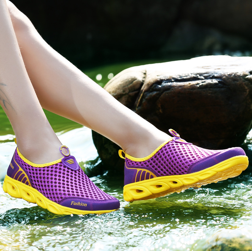 Women casual shoes new arrival hollow out mesh beach shoes for women sneakers 2018 fashion breathable woman shoes zapatos mujer 1