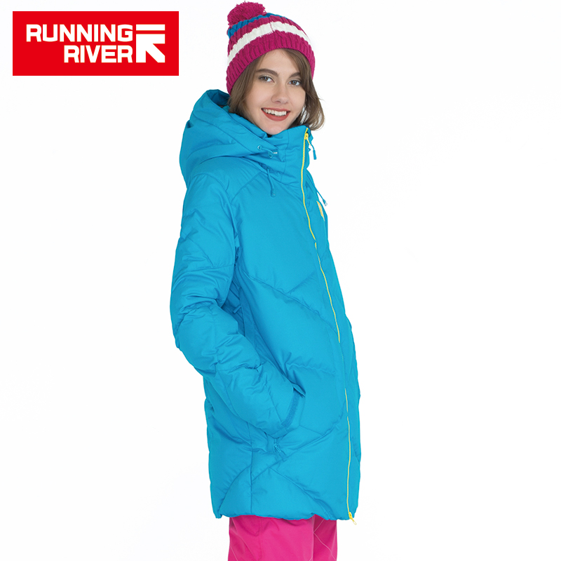 RUNNING RIVER Brand High Quality Women Down Snowboard Jacket 5 colors 6 Sizes Hooded Winter Warm Outdoor Sports Jackets #A5002 running river brand winter thermal women ski down jacket 5 colors 5 sizes high quality warm woman outdoor sports jackets a6012