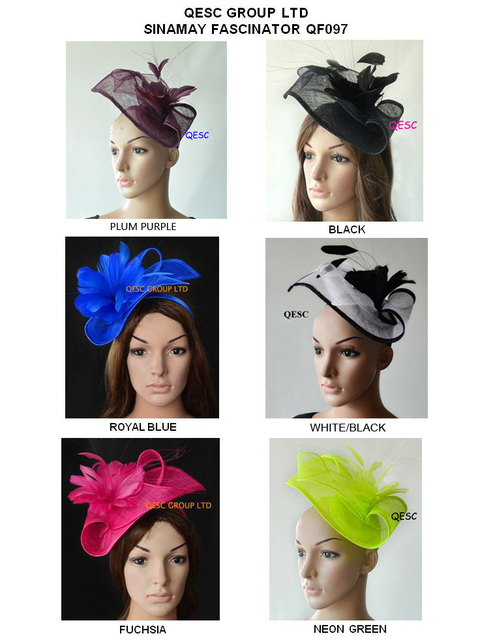 1563fc4e Design special Sinamay fascinator women's hat w/ feather flowers for Kentucky  derby,melbourne cup,ascot races, wedding.church