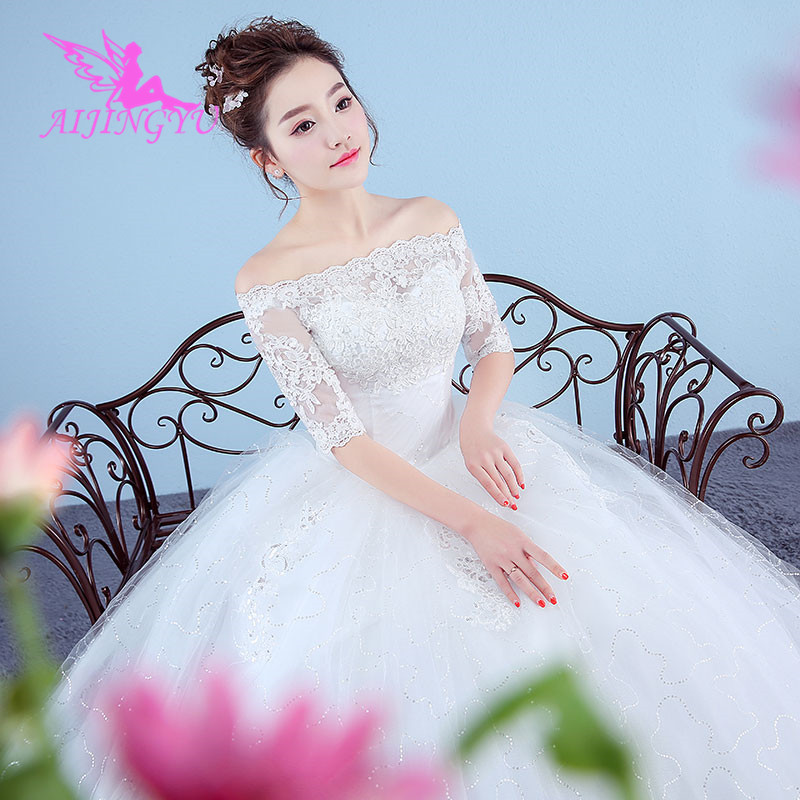 AIJINGYU Dresses Weddingdress 2018 Wedding Short Bridal Dress Elegant WK143