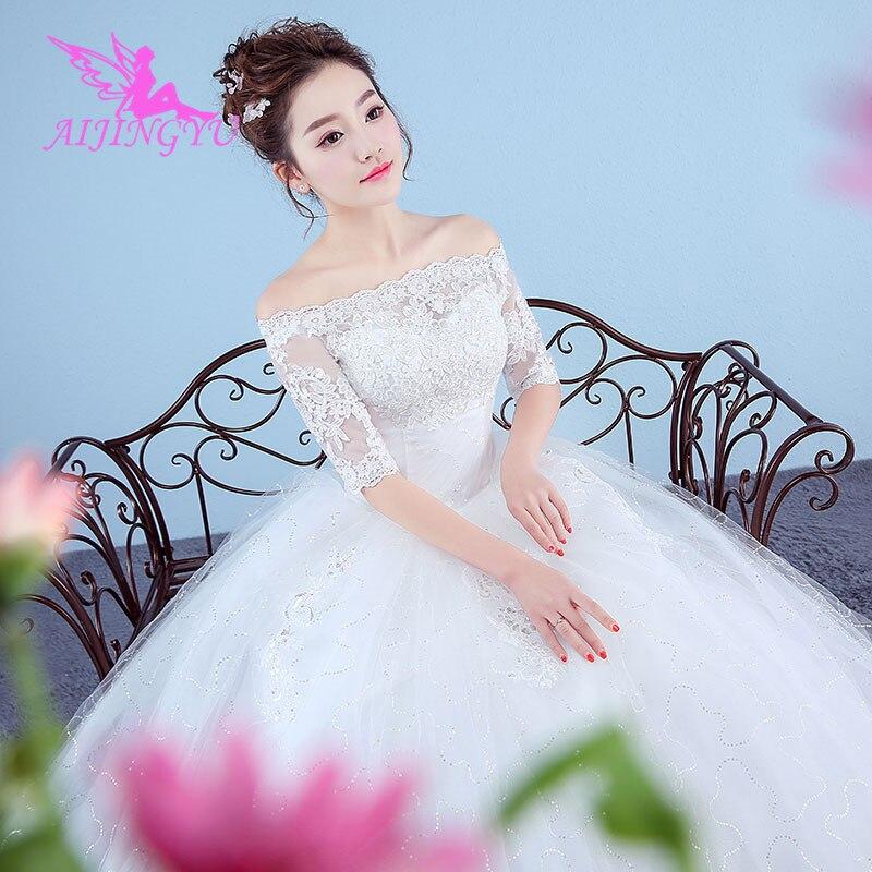 Robes AIJINGYU robe de mariée 2018 mariage robe de mariée courte élégante WK143