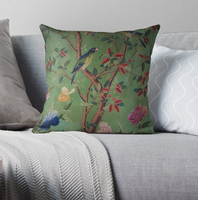 Green Dream Chinoiserie Pillow Covers Cases Pattern Nordic Cover Cushion Pillowcase Square Print|Pillow Case| |  -