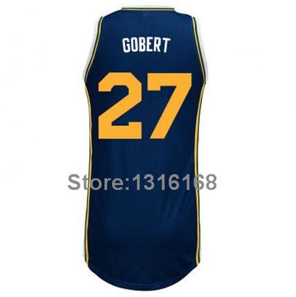 cheaper d518f f980f Newest Utah #27 Rudy Gobert Jersey Custom Baskeyball Jerseys Green Blue  White #10 Alec Burks Basketball Jerseys Shirt Uniform-in Basketball Jerseys  ...