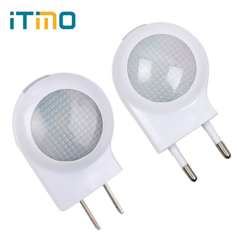 iTimo Auto Sensor Smart Lighting Control LED Night Light For Baby Bedroom Decors Atmosphere Lamp Cute Mini Nightlight EU US Plug itimo wireless led bulb with remote control dimmable 220v e27 home indoor lighting night light us plug bedroom light lamp