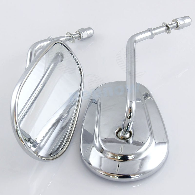 2x Aluminum Chrome Motorcycle Driving Mirror Rearview side Fit For Harley XL 1200 883 4276 2