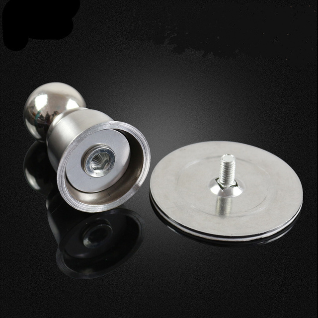 Free drilling stainless steel Magnetic door stopper  door buffer  Holder Catch Floor Fitting With Screws furniture accessories