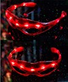 Nuevo y Genial Glow Party Club Red Shades LED Light-Up Del Juguete Cambiable LED Parpadeante Shades Gafas FCI #