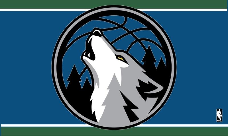Minnesota Timberwolves 100D Polyester Digital Printing colorful baskatball Flags Sleeve metal Grommets 3x5FT sports equipment