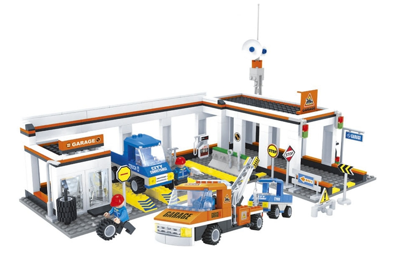 Ausini model building kits compatible with lego city car 628 3D blocks Educational model & building toys hobbies for children