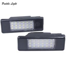 2pcs LED Number License Plate Lights 18SMD No Error Free lamp bulb For Peugeot 106 1007 207 307 308 3008 406 407 508 607