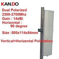 14dbi вертикальный horizental поляризация 90 град 2.3 2.7 г Панель Антенна 2.4 г Wi Fi антенны базовой станции FDD 4 г антенны TDD антенны