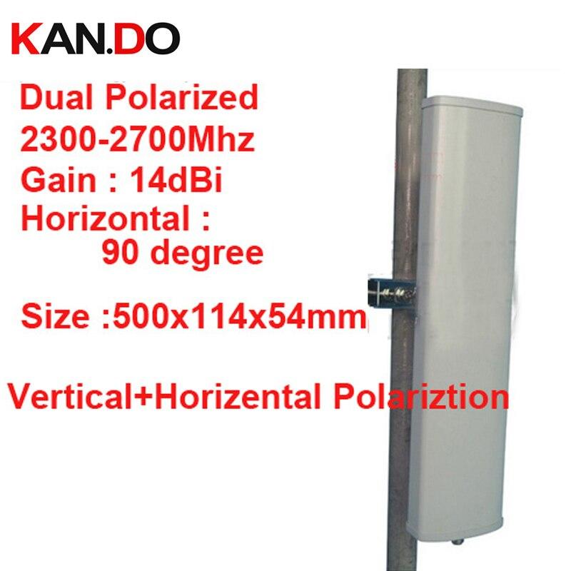 14dbi polarisation horizontale verticale 90 deg 2.3-2.7G antenne panneau 2.4G wifi antenne Base station FDD 4G antenne TDD