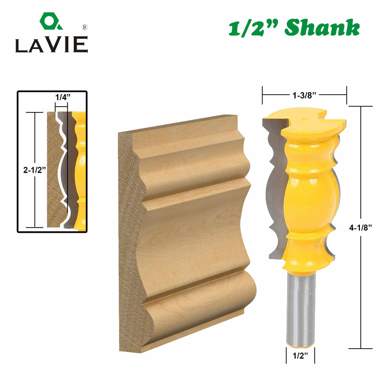 LA VIE 1/2 Shank 12.7mm Large Line Knife Crown Molding Router Bit Tenon Cutter For Wood Woodworking Milling Cutter MC03117 a study of instructional supervisory practices