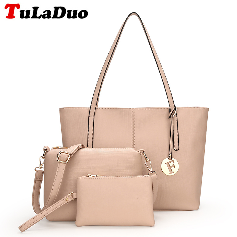 Fashion 3Pcs/Set Composite Bags Women Shoulder Bag Luxury Pu Leather Handbag Casual Large Tote bag set Women Handbags ladies bag realer luxury handbags women bags designer fashion shoulder messenger bags ladies large tote bag with zipper pu leather handbag