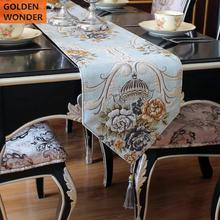 European Modern Simple Home Decoration Table Runner Bed Chenille Fabric High Grade New Design