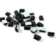 Новейшие 30X Зажимы для галстука фиксатор Органайзер падение клейкий Зажим Автомобильный провод держатель кабеля шнура