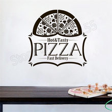 купить YOYOYU Pizza Poster Vinyl Wall Decals Quote Hot Tasty Pizza Fast Delivery Wall Sticker Kitchen Special  Interior Home DecorZW381 по цене 558.17 рублей