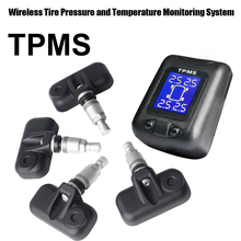 Tire Pressure Monitoring System Car TPMS with 4 pcs Internal Sensors high Low pressure high temperature warnings