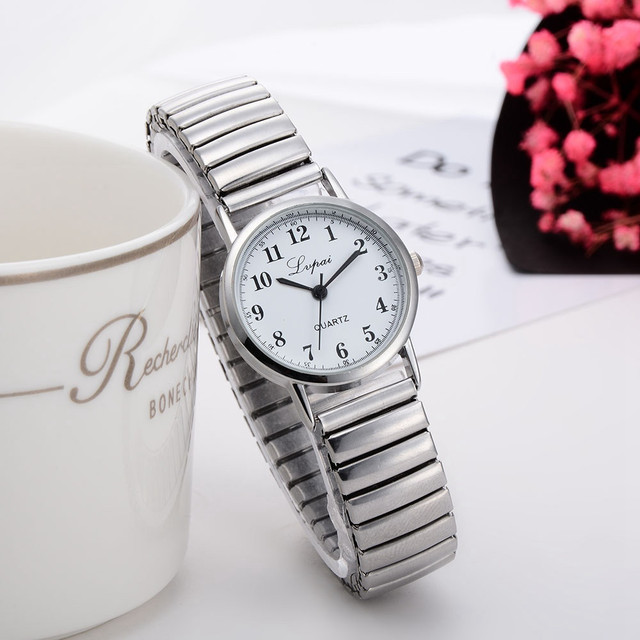 1 pair Men Women Watch Couple Fashion Quartz Stainless Steel Band Wrist Watch Lu