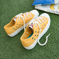 2017 New Design Fashion Summer Fabric Shoes Woman Flats Breathable Women Casual Loafers Yellow Mesh