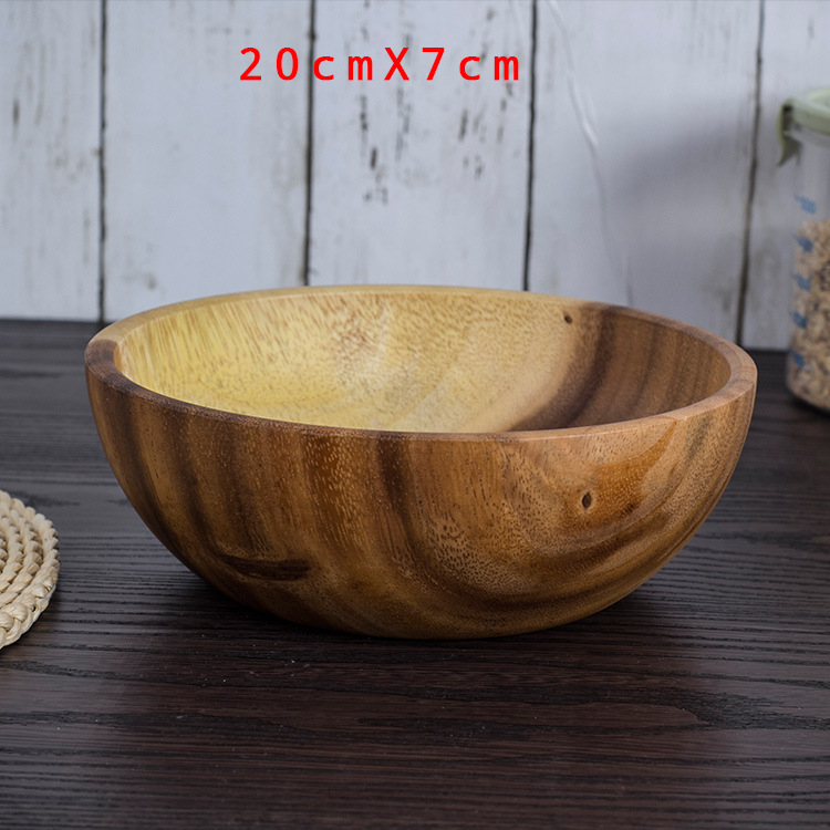 Log bowl Wood Bowl Tableware Dinnerware Sets Spoon Chopsticks marmita Bowl Adult Dinner Service No Paint No Wax in Bowls from Home Garden