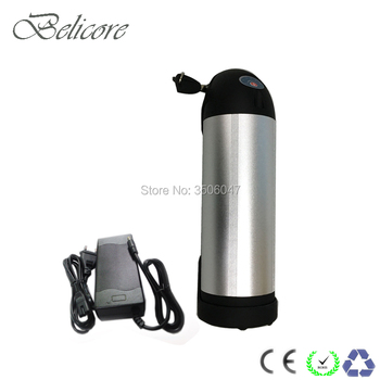 EU US no tax  water bottle 250W Ebike 24V 10Ah 12ah 15ah bottle Electric Bicycle battery pack with charger