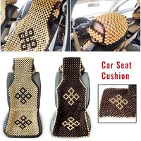 New Car Seat Cover Cushion Chair Cover Summer Cool Wood Wooden Bead Seat Cover Oto Koltuk Kilifi Car Seat Protector Universales