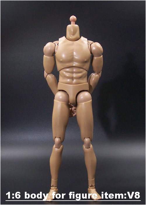 1/6 Scale Male Nude Body Muscle Man soldier 12 Inche Body Action Figure Accessories DIY Movable image