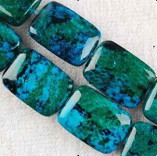 """13x18mm azurita crisocola piedras preciosas sueltas cuentas 15"""""""