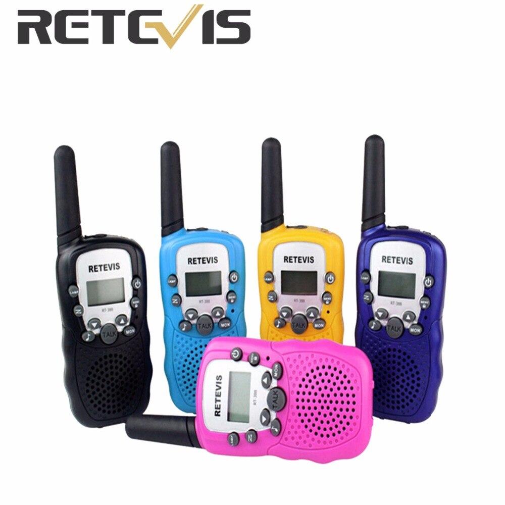 imágenes para 2 unids RT388 Retevis UHF 462.5625-467.7250 MHz Walkie Talkie Para Niños Juguete 0.5 W 22CH Para Pantalla LCD Linterna VOX A7027