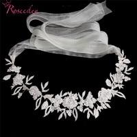 Noble Rhinestones Bridal Wedding Head Piece Belt Headwear H Handmade Women Party Jewelry Wedding Hair Accessories RE3324