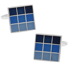 Men Gift Designer Cuff Links Wholesale&retail Blue Color Copper Material Fashion Enamel Design