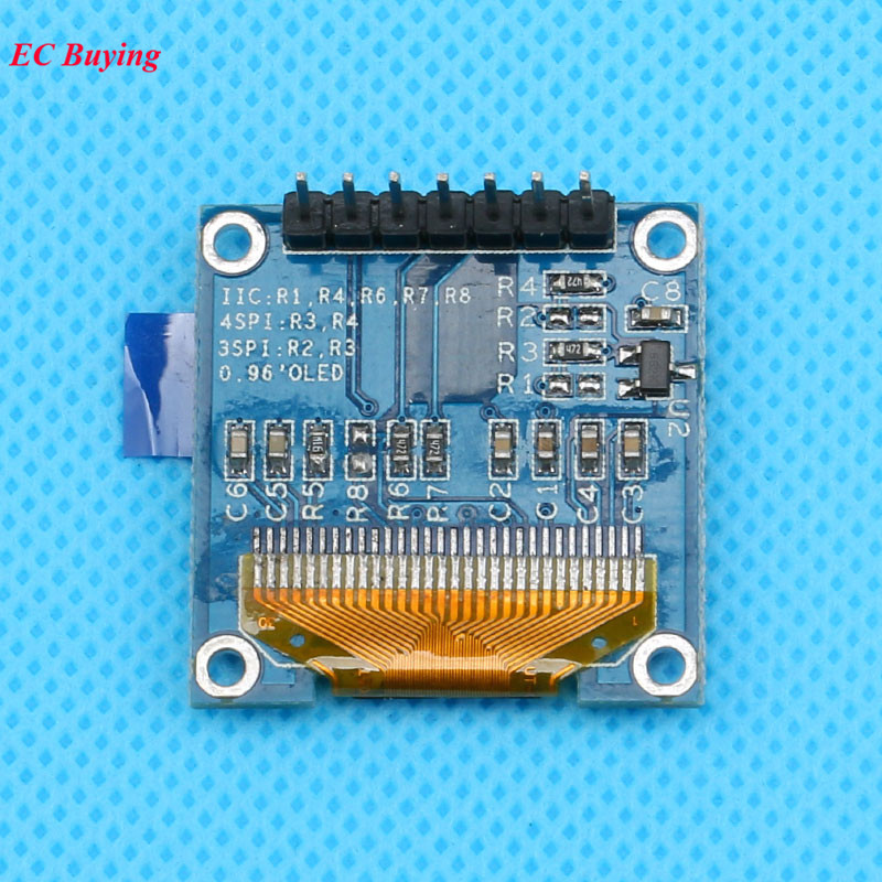0.96 Inch OLED Display Module White OLED LCD Module 7 Pin 128X64 LCD Display 12864 Screen Board IIC SPI Connector 7Pins