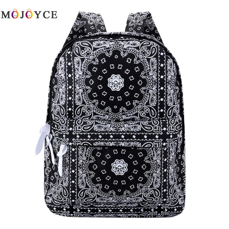 National Ethnic Printed Women Casual Canvas Backpack Travel Shoulder Rucksack Mochila Feminina Teenager School Backpack