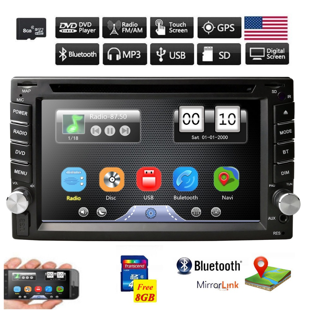 Detail Feedback Questions About Car Radio Gps Dvd Player For Universal Cars Sat Nav Ipod Bluetooth Usb Tv Steering Wheel Control Rds 2din Mirror Link On
