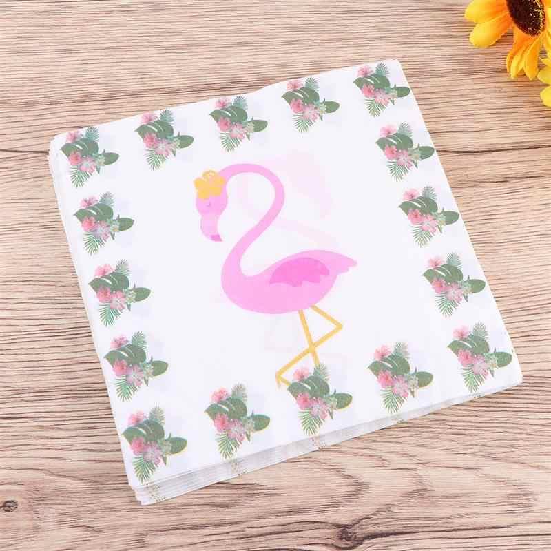 2 упаковки красочные декоративные прекрасные одноразовые салфетки для вечеринок печать салфетки с изображением фламинго Детская Игрушка В ванную