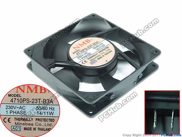 NMB-MAT 4710PS-23T-B3A, A01 AC 230V 11W, 120x120x25mm Server Square fan ebmpapst a6e450 ap02 01 ac 230v 0 79a 0 96a 160w 220w 450x450mm server round fan outer rotor fan