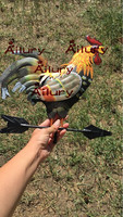 120cm Colorful Cock Decorative Weather Vanes Iron Wind Speed Spinner Direction Lawn Yard Decoration Garden Ornaments