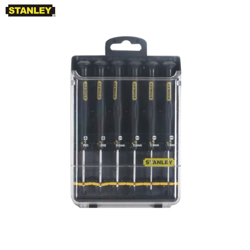 Stanley 6 pcs professional anti static screwderiver kits ESD antistatic mini set screwdrivers slotted phillips instrument
