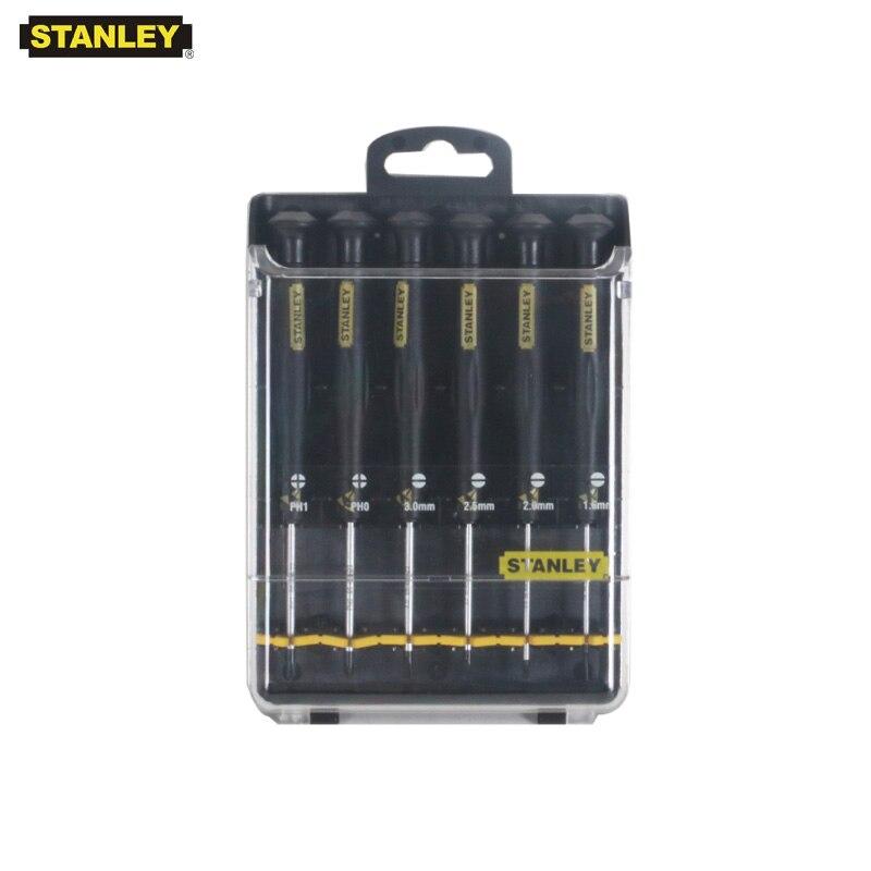 Stanley 6 pièces professionnels antistatiques tournevis kits ESD antistatique mini set tournevis fendu phillips outils d'instrument