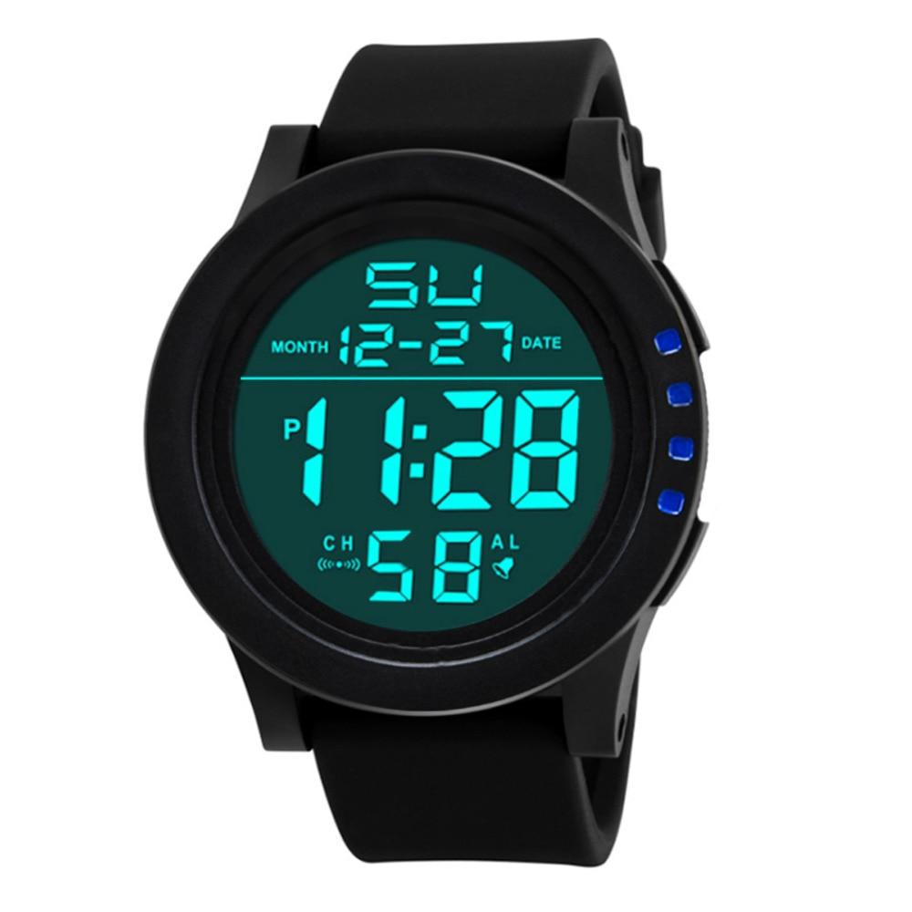 30M Waterproof Men's Boy Watch LCD Digital Stopwatch Date Silicone Rubber Strap Military Army Sport Wrist Watch with Backlight я immersive digital art 2018 02 10t19 30